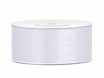 Satin Ribbon, white, 25mm/25m (1 pc. / 25 lm)
