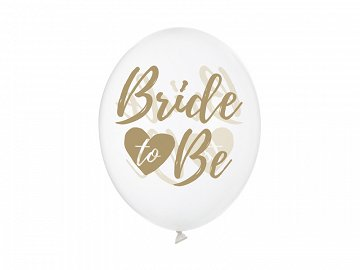 Balloons 30cm, Bride to be, Crystal Clear (1 pkt / 50 pc.)