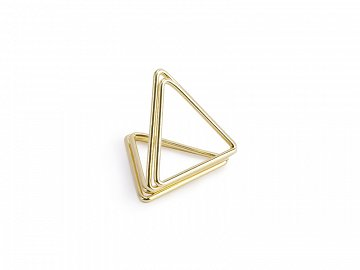 Place card holders Triangles, gold, 2.3 cm (1 pkt / 10 pc.)