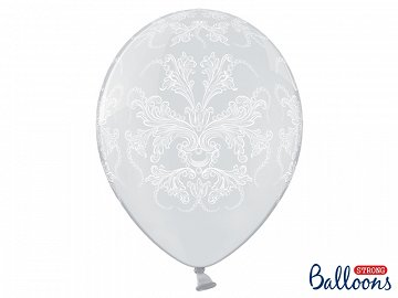 Balony 35cm, Ornament, Crystal Clear (1 op. / 6 szt.)