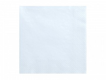 Napkins, 3 layers, light sky-blue, 33x33cm (1 pkt / 20 pc.)