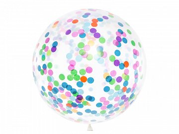Confetti balloon - circles, 1m, mix