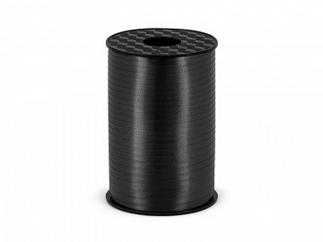 Plastic ribbon, black, 5mm/225m