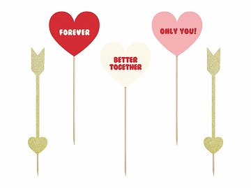 Toppers Sweet Love - Hearts and arrows (1 pkt / 5 pc.)