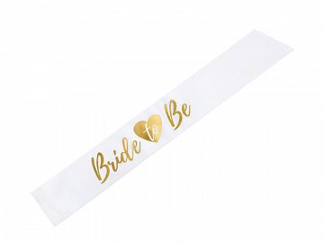 Sash Bride to be, white, 75cm