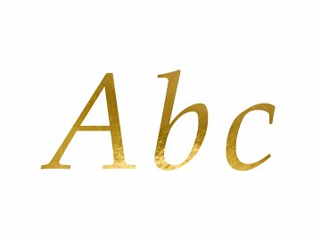 Letter Stickers, gold