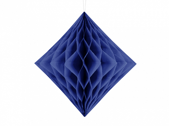 Honeycomb Diamond, navy blue, 20cm