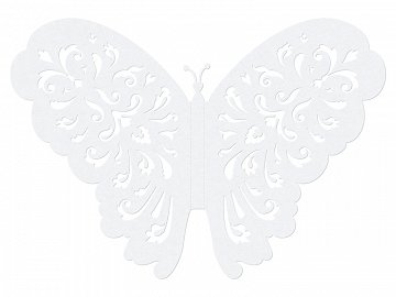 Paper Decorations Butterflies, 14cm (1 ctn / 50 pkt) (1 pkt / 10 pc.)