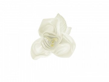 Roses with suction cups, cream, 6.5cm (1 pkt / 10 pc.)
