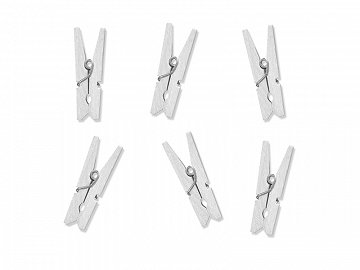 Wooden pegs, white (1 pkt / 20 pc.)