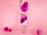 Foil Balloon Heart, 45cm, dark pink