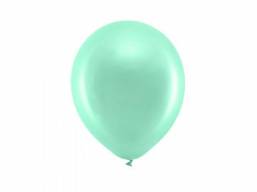 Rainbow Balloons 23cm metallic, mint (1 pkt / 100 pc.)