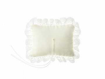 Ring bearer pillow, cream, 10x13cm