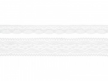Laces, white (1 ctn / 32 pkt) (1 pkt / 2 pc. / 3 lm)
