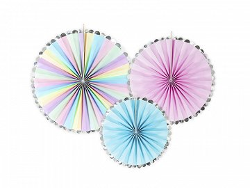 Decorative Rosettes Unicorn, mix (1 pkt / 3 pc.)