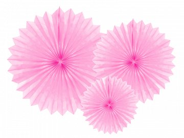 Tissue fan, light pink, 20-40cm (1 pkt / 3 pc.)