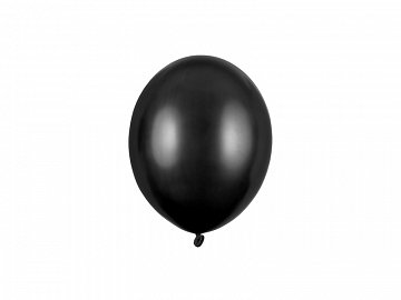 Strong Balloons 12cm, Metallic Black (1 pkt / 100 pc.)