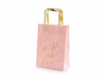 Gifts bags Prosecco, pink, 18x26x10cm (1 pkt / 6 pc.)