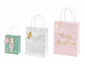 Christmas gift bags , mix (1 pkt / 3 pc.)