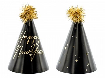 Party hats Happy New Year , 16cm (1 pkt / 6 pc.)