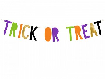 Banner Hocus Pocus - Trick or Treat, mix, 13x100 cm