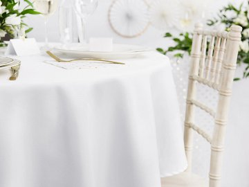 Tablecloth, white, 230cm
