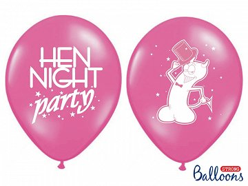 Balony 30cm, Hen night party, P. Hot Pink (1 op. / 50 szt.)