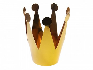 Party crowns, gold, 7cm (1 pkt / 3 pc.)