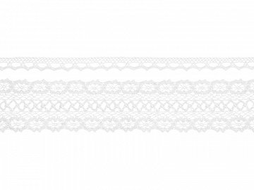 Laces, white (1 ctn / 32 pkt) (1 pkt / 2 pc.)