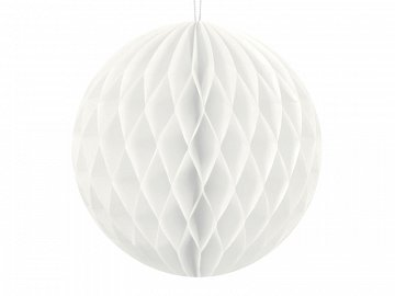 Honeycomb Ball, white, 10cm