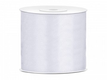 Satin Ribbon, white, 75mm/25m