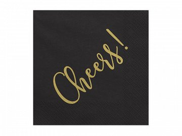 Napkins Cheers!, 33 x 33 cm (1 pkt / 20 pc.)