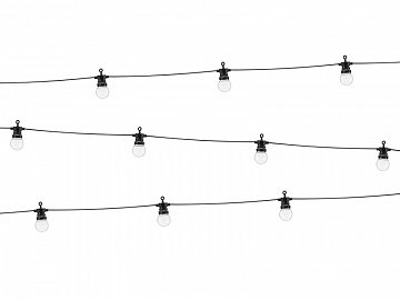 LED Festoon lights, black, 5m, doesn't contain UK plug