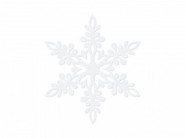 Paper decoration Snowflake, white, 11cm, white (1 pkt / 10 pc.)
