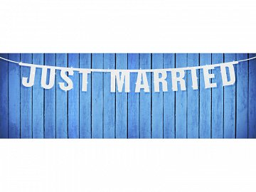 Baner Just Married, 18 x 170cm (1 karton / 40 szt.)