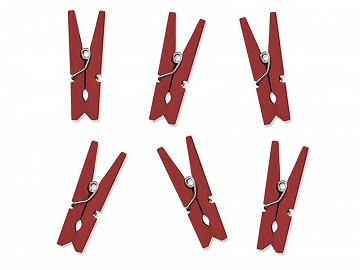 Wooden Pegs, red (1 pkt / 10 pc.)