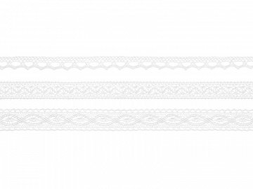 Laces, white (1 ctn / 32 pkt) (1 pkt / 3 pc.)