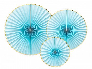 Decorative Rosettes Yummy, light blue (1 pkt / 3 pc.)