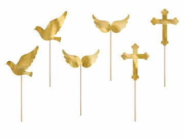 Cupcake toppers First Communion, 8.5-11 cm (1 ctn / 50 pkt) (1 pkt / 6 pc.)
