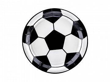 Plates Football, mix, 18cm (1 pkt / 6 pc.)