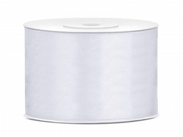 Satin Ribbon, white, 50mm/25m