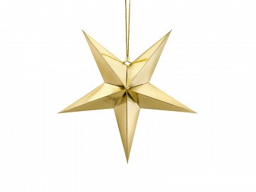 Paper star, 45cm, gold