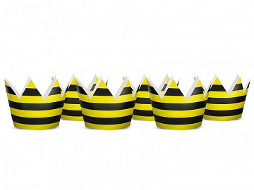 Party crowns Bee, 10cm (1 pkt / 6 pc.)