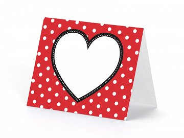 Place Card Heart, 8 x 6.5cm, mix (1 pkt / 6 pc.)