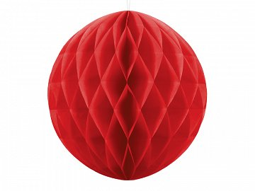 Honeycomb Ball, red, 20cm