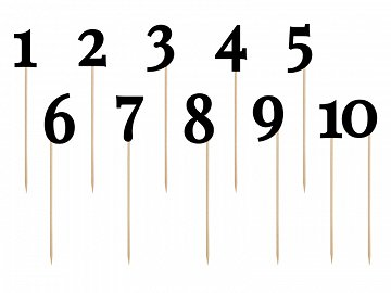 Table numbers, black, 24-26cm (1 pkt / 11 pc.)
