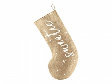 Decorative stocking Sweetie, white, 23x39.5cm