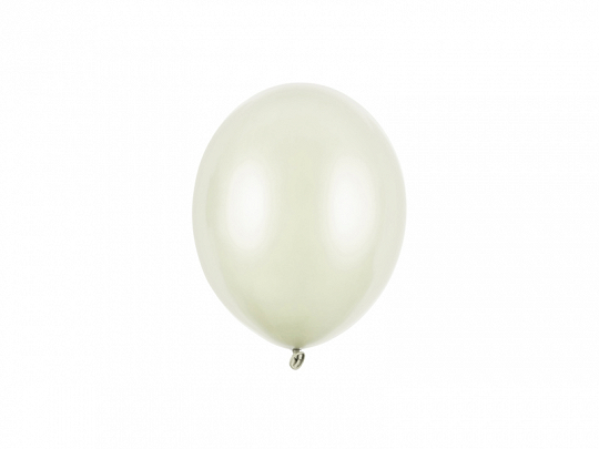 Strong Balloons 12cm, Metallic Light Cream (1 pkt / 100 pc.)