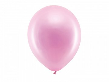 Rainbow Balloons 30cm metallic, pink (1 pkt / 100 pc.)