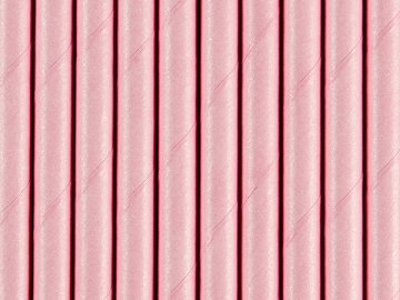 Paper Straws, light pink, 19.5cm (1 ctn / 50 pkt) (1 pkt / 10 pc.)